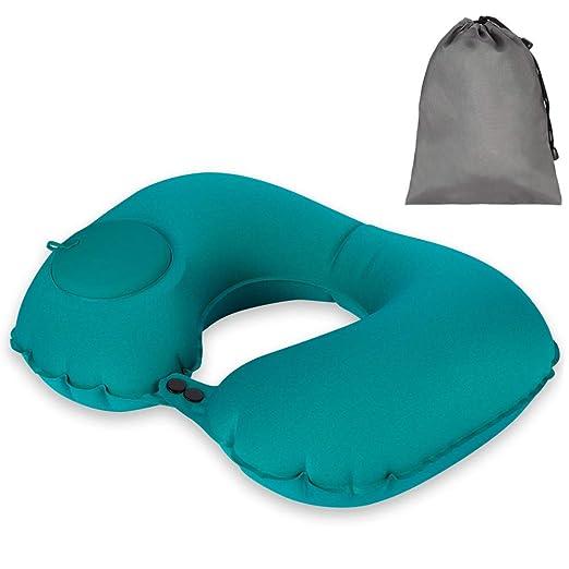 AIM Cloudbed Almohada de Cuello Inflable portátil Almohada de Viaje Ligera Almohada de Aire autoinflable en Forma de U Almohada de Cuello Plegable con ...