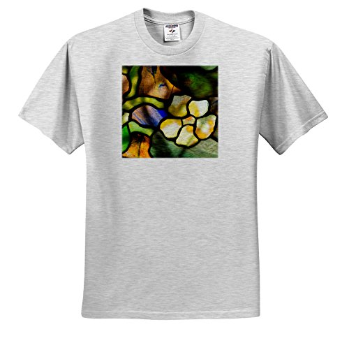 Price comparison product image 3dRose Danita Delimont - Artwork - New York, Tiffany Stained Glass Lamp Shade. - T-Shirts - Youth Birch-Gray-T-Shirt Small(6-8) (TS_279255_28)