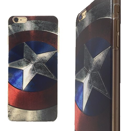 Superhero Clip-On Case for iPhone 6 Plus and 6s Plus (Captain Shield)