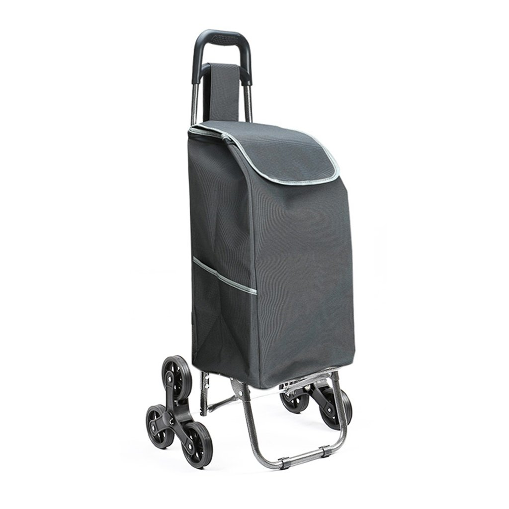 Shopping Cart Shopping Cart Trolley Small Pulling Bag Luggage Trolley Folding Trailer Trolley Stroller Household Portable (Color : Black, Size : 342593cm)