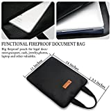 "Fire Safe, Fireproof Safe Document Bag (14""x 11"") Waterproof Non-itchy, Zipper Closure, Silicone Coated Home Security for Maximum Storage"