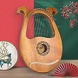 Lyre Harp, AKLOT 16 Metal Strings Maple Saddle