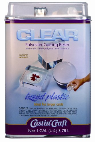 Environmental Technology 128-Ounce with 1/2-Ounce Catalyst Casting' Craft Polyester Casting Resin, Clear