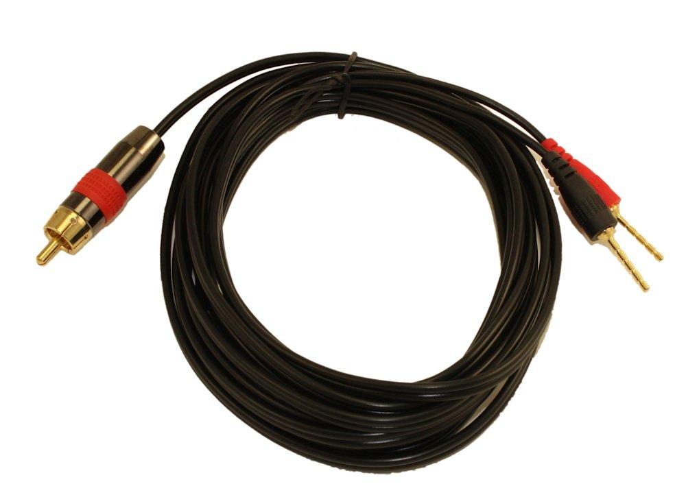限定版 mycablemart AWG 6 ft 1ワイヤサブウーハー18 B01MROSOFU AWG ( 1 RCA RCA to 2 Pos/ Negスピーカー)接続、ブラック B01MROSOFU, 文具のワンダーランド キムラヤ:5d7cf93b --- arianechie.dominiotemporario.com