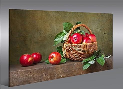 Bild Bilder auf Leinwand Obstkorb Äpfel Früchte Küche Obst 1K XXL ...