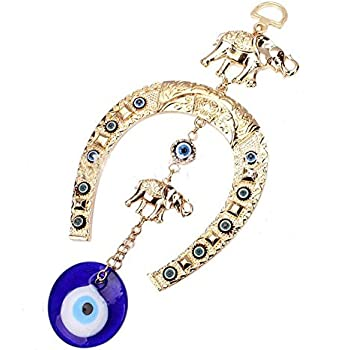 kiwilife Evil Eye Hanging Pendant Blue Eye Hamsa Amulet Home Wall Decoration For Protection