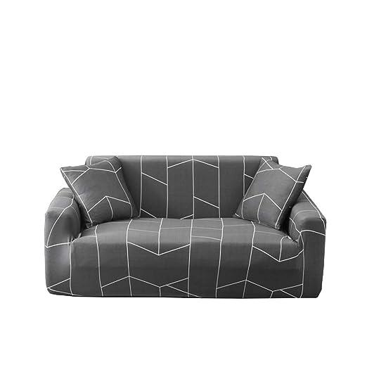 HLLXX Funda de sofá elástica Estampada de poliéster y Licra ...
