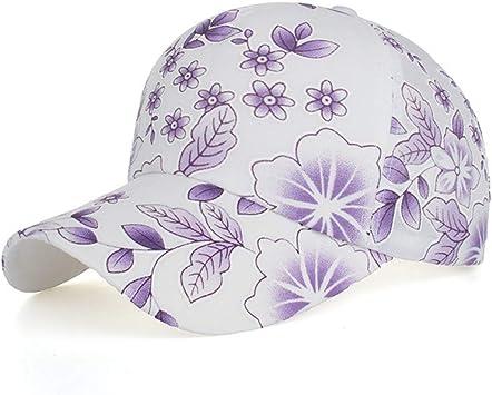 Qiiueen Sombrero De Mujer, Gorro De Flores, Gorra De Béisbol ...