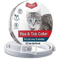 Sentas Cat flea Collar, flea tick Prevention, flea and tick Prevention for Cats, flea Treatment for Cats, flea Protection, pet flea Collars, Fleas & Ticks for Cats, flea & tick Control (flea Collar)