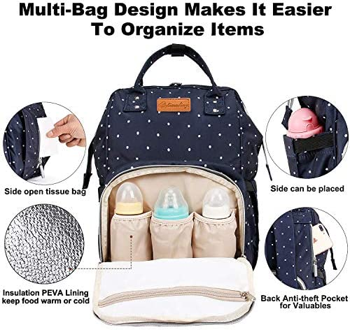 51stB1Z78pL. AC - EssFeeni Diaper Bag Backpack For Women Large Maternity Mommy Bag Waterproof Baby Nappy Bags For Travel