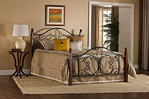 Hillsdale Milwaukee Queen Poster Bed in Textured Black - Footboard Hillsdale House