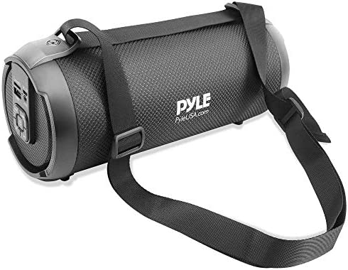 Wi-fi Transportable Bluetooth Boombox Speaker – 300 Watt Rechargeable Growth Field Speaker Transportable Music Barrel Loud Stereo System with AUX Enter, MP3/USB/SD Port, Fm Radio, 3″ Tweeter – Pyle PBMSPG2BK