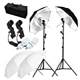Camera Photo Video Best Deals - CanadianStudio 2-Head translucent & black/silver umbrella lighting continuous video portrait make up lighting kit - FREE shipping on orders over $100