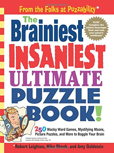 The Brainiest Insaniest Ultimate Puzzle Book! Crossword Puzzle Books For Kids