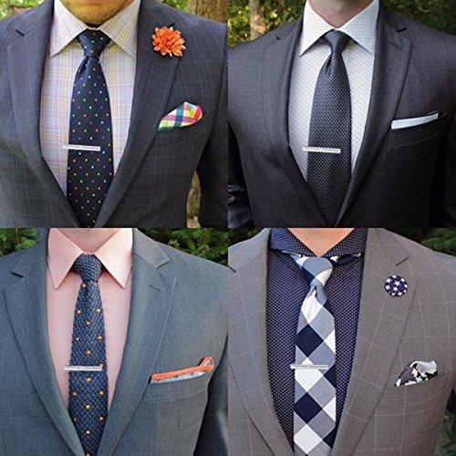 FIBO STEEL Personalized Initial Cufflinks Tie Clips Set Men Gifts Custom Letter Wedding Cufflinks Case M by FIBO STEEL (Image #4)