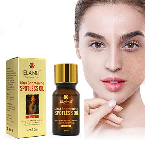 Ultra Brightening Spotless Oil, Dark Spots Pigmentation Removal Whitening Massage Oil Natural Pure Skin Care Essential Oil Acne Removal Oil for Dry Skin, Redness, and Skin Blemishes