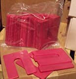 1/8 x 3 x 4 Plastic U-Shims - Red - 75/Package