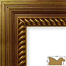 Craig Frames Barnwood Ornate, Rustic Antique Gold Picture Frame, 8 by 10-Inch