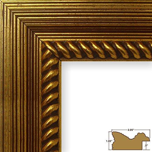 Craig Frames Barnwood Ornate, Rustic Antique Gold Picture Frame, 11 by 14-Inch (Frames Picture Ornate Gold)