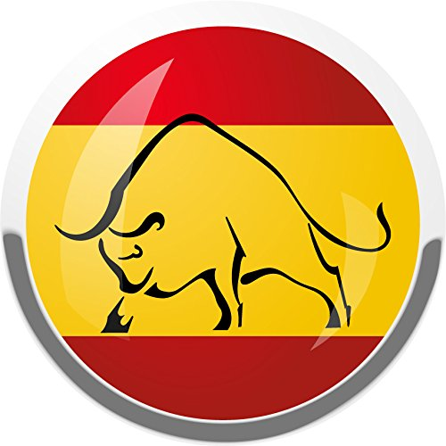 Spain National Flag Bull Home Decal Vinyl Sticker 12'' X 12'' by innagrom
