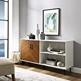 WE Furniture AZ58BMHPASSW TV Stand, Solid White