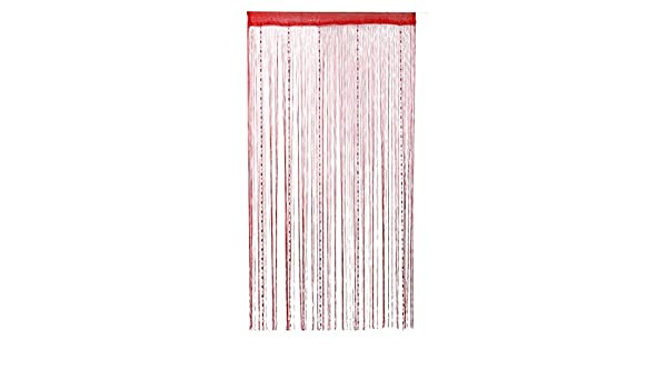 Amazon.com: eDealMax Dew Drop Cadena moldeada Cadena Cortinas Panel Para tabique Divisor 100x200 puerta de la pared de Cortina (Rojo): Home & Kitchen