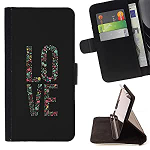 - Love Rose - - Style PU Leather Case Wallet Flip Stand Flap Closure Cover FOR Sony Xperia Z3 D6603 - Devil Case -