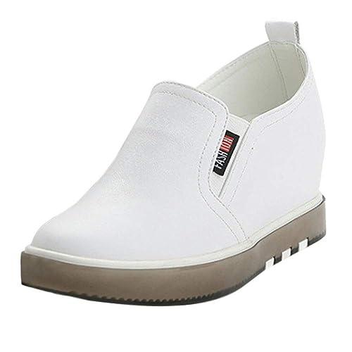 Tenthree Oculto Cuña Casual Caminar Zapatos - Confort Cuero Zapatillas de Deporte Mujeres Tobillo Bota Plataforma Mocasines Viajes Moda: Amazon.es: Zapatos ...