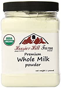 Certified Organic Whole Milk Powder (1lb), Hoosier Hill Farm, Hormone free