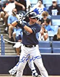 DANIEL ROBERTSON AT BAT TAMPA BAY RAYS SIGNED AUTOGRAPHED 8x10 PHOTO W/COA