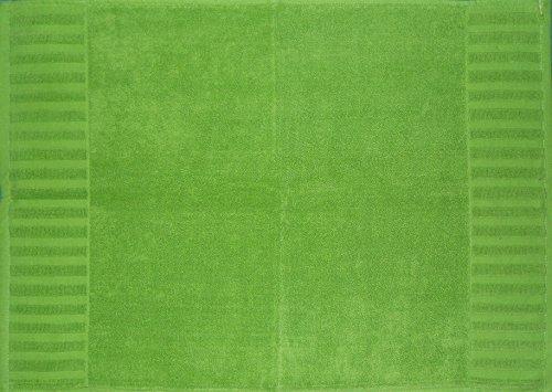 Badevorleger, Badematte Duschvorleger, ca, 50 x 70 cm, grün, 750 Gr./m², Frottier, uni einfarbg, 100% Baumwolle, Frottee (grün)