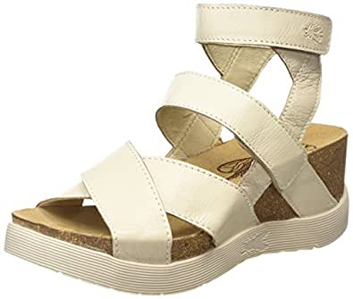 FLY London Women's Wege669fly Platform Sandal, Off White Mousse, 36 EU/5.5-6 M US