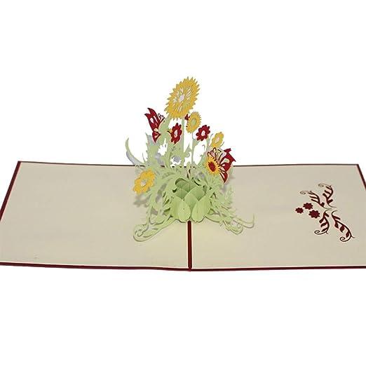 Tarjetas de felicitación navideñas Inspirado girasoles 3D ...