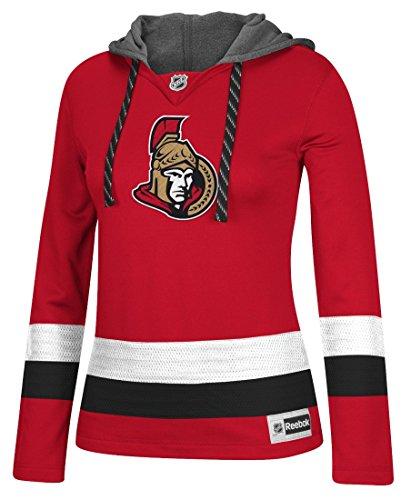 adidas NHL Ottawa Senators Women's Jersey Crewdie Sweatshirt, Medium, Red