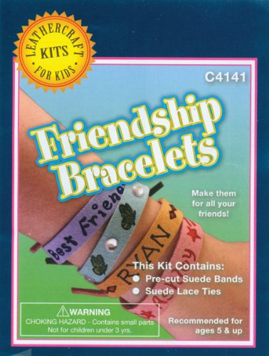 Realeather Crafts Leather Craft Kit, Friendship Bracelets, 8-Pack