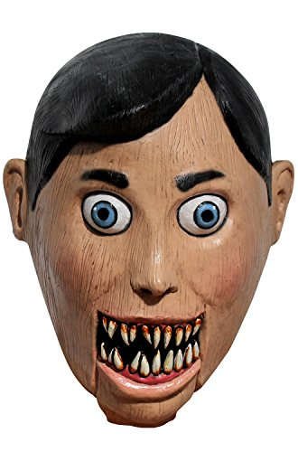 Ghoulish Productions Evil Puppet Adult Latex Mask Creepy Scary Wooden Marionette Halloween Accessory ()