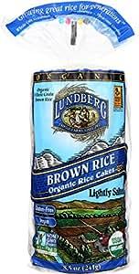 Lundberg Family Farms Organic Brown Rice Cakes, Lightly