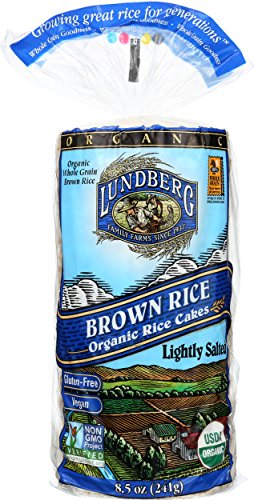 Cake Rice Brown (Lundberg Family Farms Organic Brown Rice Cakes, Lightly Salted, 8.5 Ounce (Pack of 12))