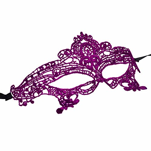 Mai Yi Stylish Lace Mask Catwoman Halloween Cosplay Masquerade, Purple, One Size ()