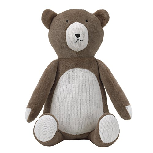 Nursery Bear Hugs (Dwell Studio Bear Hugs Super Soft Plush, Brown/Ivory Bear)