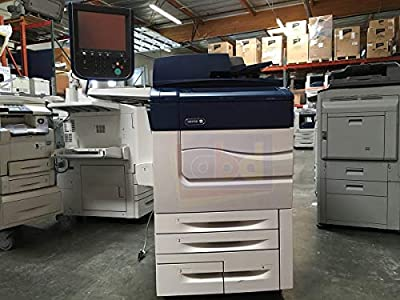 Xerox Color C60 Digital Laser Production Printer/Copier - 60ppm, Copy, Print, Scan, 4 Trays, Bypass Tray, 497K02420 Offset Catch Tray, R7B Integrated Fiery Color Server (Renewed)