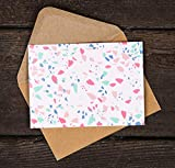 Blank Cards with Envelopes - 24 Terrazzo Blank Note Cards with Envelopes - Assorted Cards for All Occasions! Blank Notecards and Envelopes Stationary Set for Personalized Greeting Cards