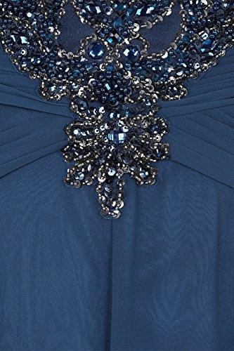 Blue 31012712 Astrid Curve Kleid mit Stil Dynasty Damen petrol blau Petrol Schal lange 74ORgx