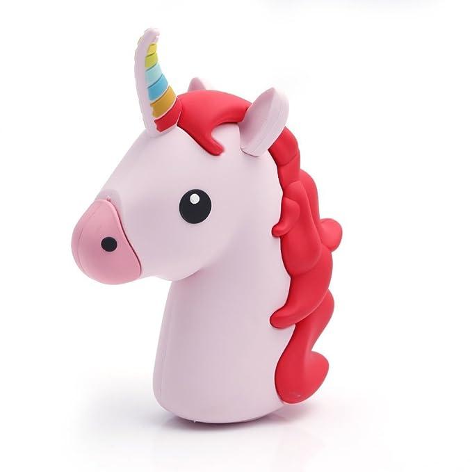9 opinioni per UBMSA Caricabatterie Unicorno 2600mAh Caricabatteria Esterno a forma di Unicorno