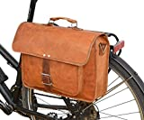 Bicycle Bag Gusti Leder nature'Erik Z.' Genuine Leather Satchel Messenger Bag with KLICKfix-Adapter for Bicycle 15' Laptop Holder Handmade Bag Vintage U19b
