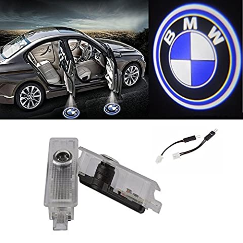 TF 2pcs Universal Car Door LED Light Projector Shadow Light Welcome Light Kit for BMW, No Drilling Required (For (Bmw Shadow Door Light)