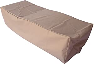 Dola Patio Outdoor Chaise Lounge Cover Waterproof Breathable 79-Inches Patio Chaise Chair Cover Heavy-Duty 3-Layers-Thick in Beige
