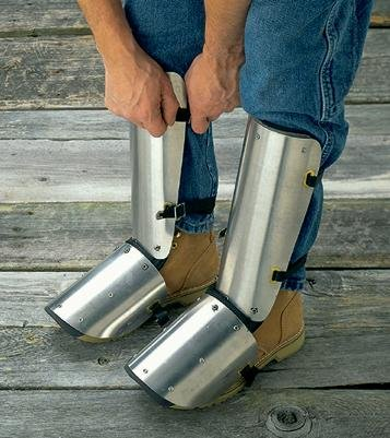 Ellwood Safety Appliance 323 Aluminum Shin-Instep Guard, 20'' by Ellwood Safety Appliance