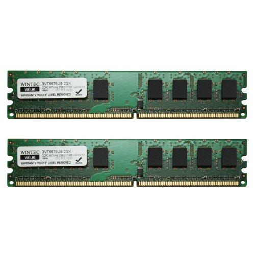 1gb 667mhz Pc5300 Ddr2 Memory (Wintec Value MHz 2GB(2x1GB) UDIMM Kit 1Rx8 2 Dual Channel Kit DDR2 667 (PC2 5300) 240-Pin SDRAM 3VT6675U8-2GK)