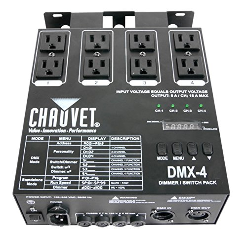 CHAUVET DJ LED Lighting SILVER DMX-4 ()